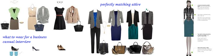 Perfect matching interview attire colors