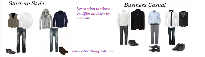 Business casual perfect matching interview attire colors
