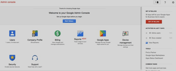google apps Custo Email id Admin console