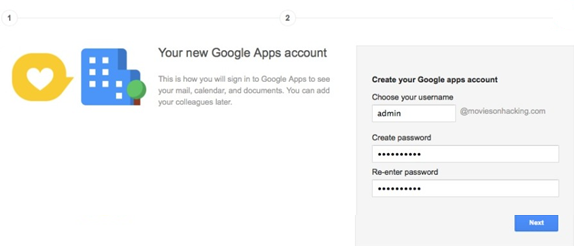 google apps Custo Email id login detail