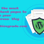 Important pages every wordpress blog should have